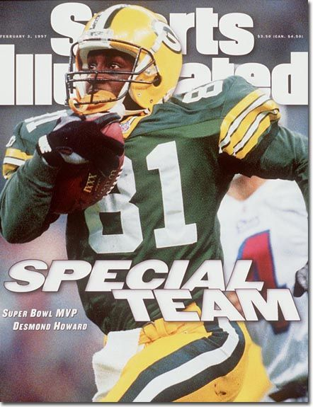 Demond Howard Si Cover Sports Illustrated Covers Sports Illustrated Green Bay Packers Vintage