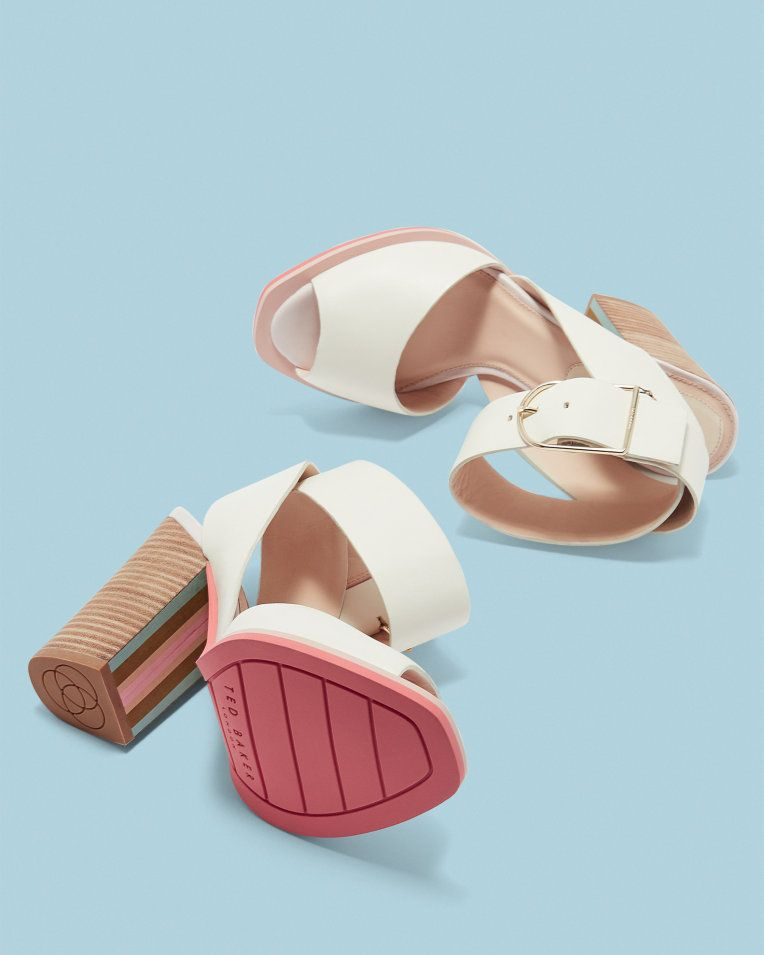 Swimmers embroidered sandals - Ivory