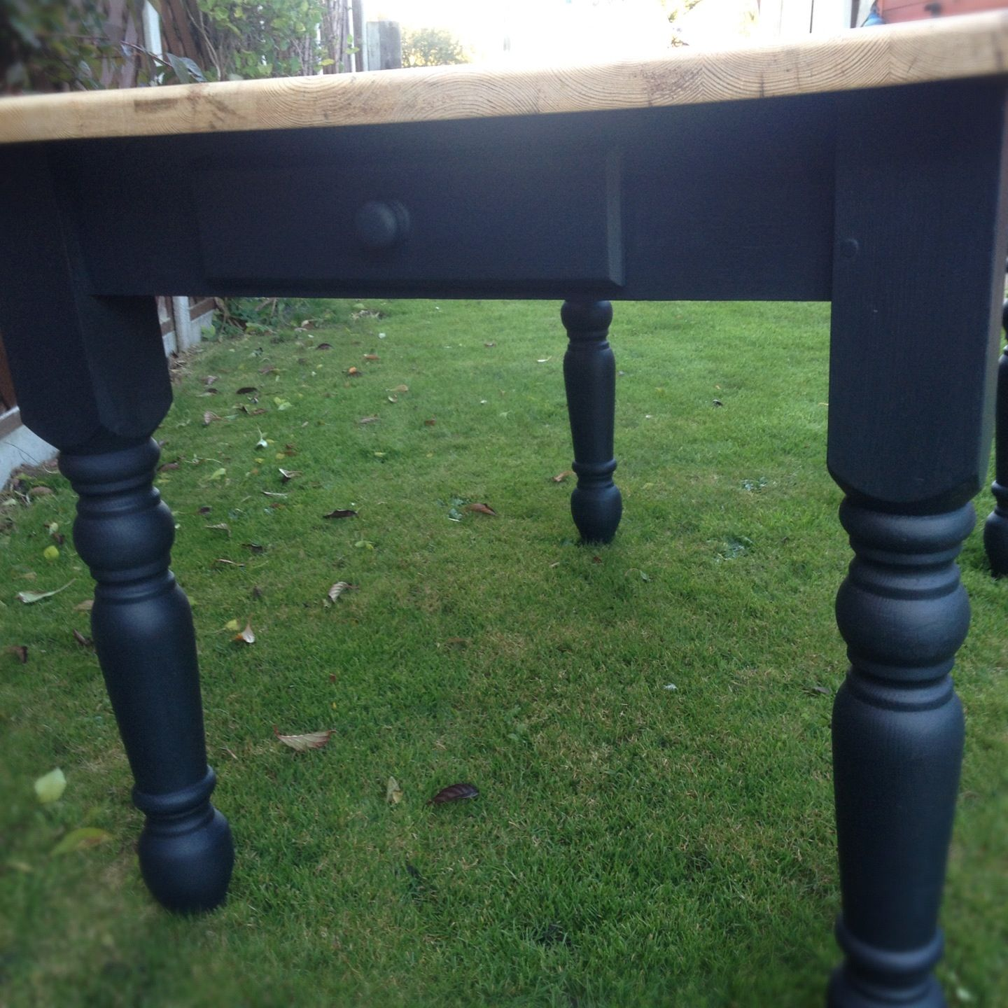 Autentico Chalk Paint on farmhouse table with ghost