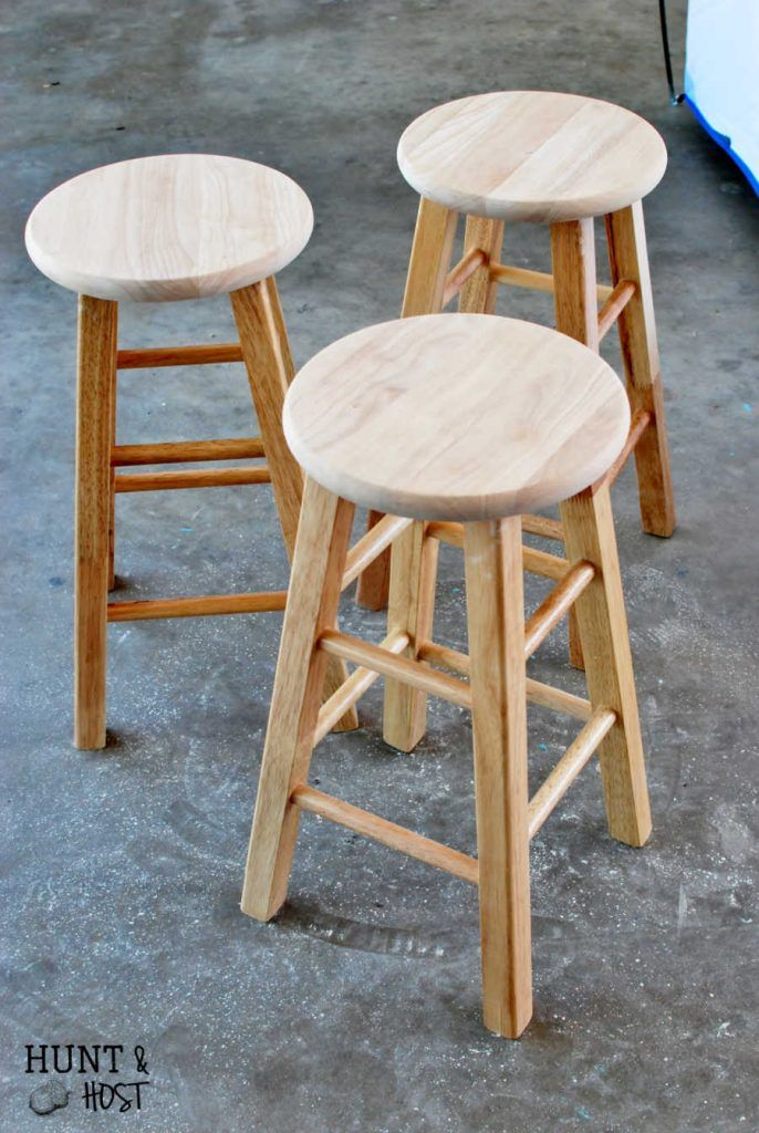 Cheap To Chic Bar Stool Makeover With My New Spray Tent With