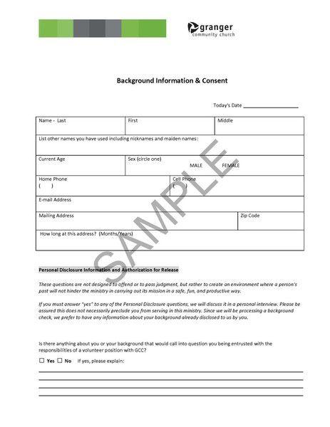 Generic Background Check Authorization Form The Top 2 Background – Background Check Form