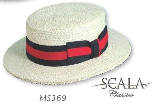 7ade96bf NEW Boater Hat Straw SCALA Skimmer Sailor Election Campaign Barbershop  Quartet #Scala #Boater