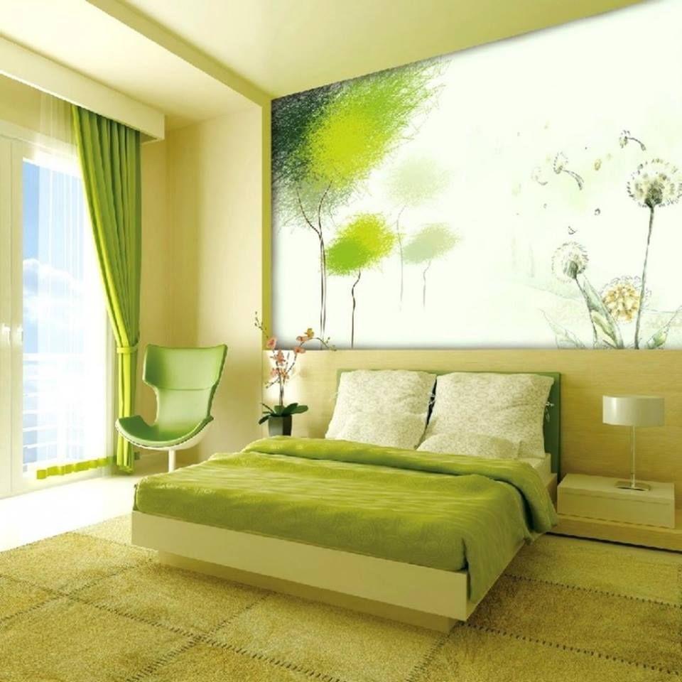 Paredes con color y accesorios neutrales - El Verde Es Un Color Neutral Tiende A Tranquilizar Y Es Adecuado Para Dormitorios