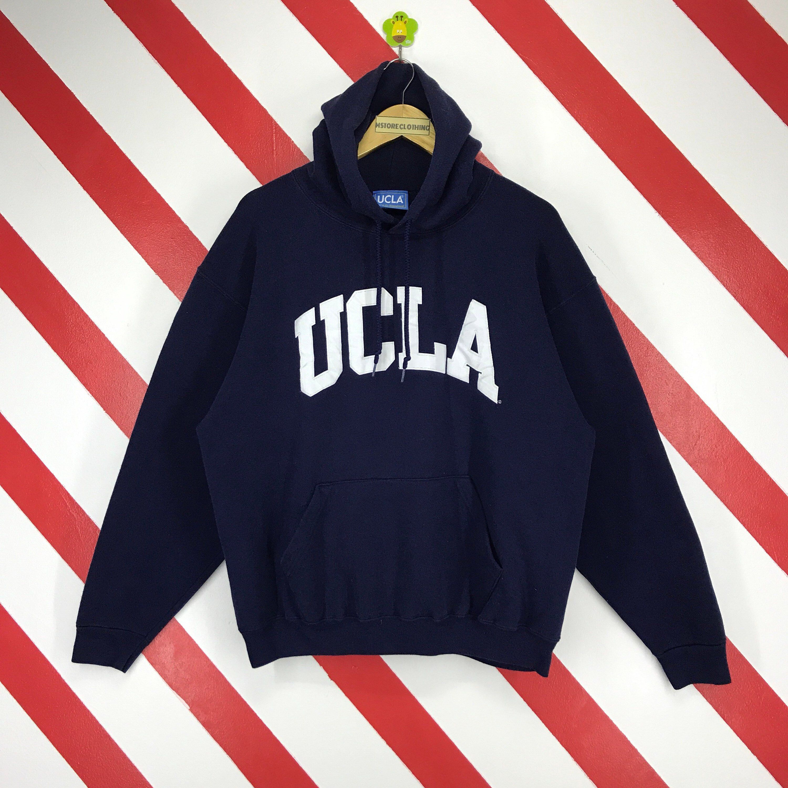 3dff3fdab7e6 Excited to share the latest addition to my  etsy shop  Vintage 90s UCLA  Hoodie UCLA Bruins Sweater UCLA Usa Pullover Ucla Spellout Logo Embroidery  Ucla Dark ...