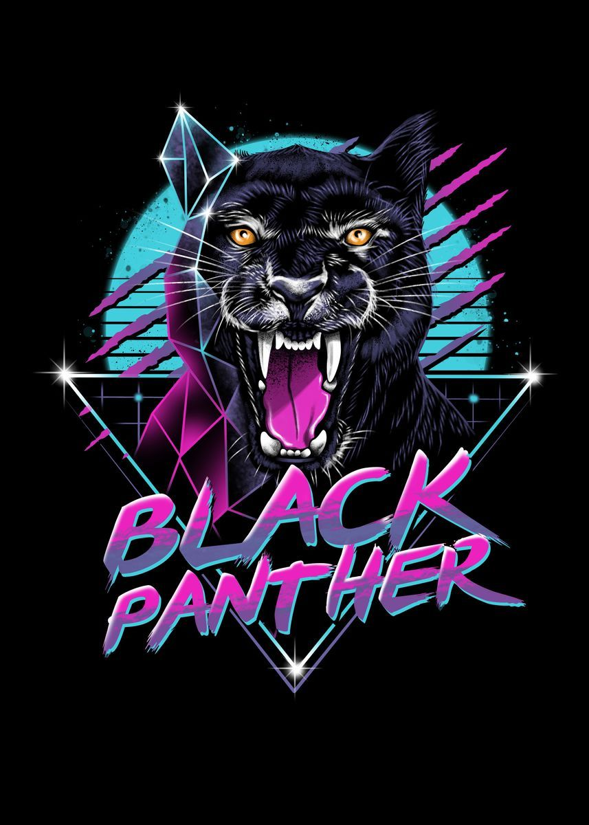 'Rad Panther' Metal Poster - vp trinidad | Displate