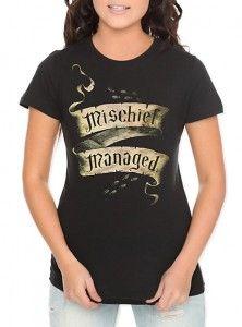 Harry Potter Mischief Managed Girls T-Shirt - http://geekarmory.com/harry-potter-mischief-managed-girls-t-shirt/