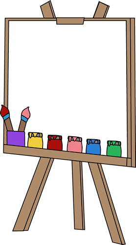 blank paint easel clip art image an art easel with a blank canvas rh pinterest com