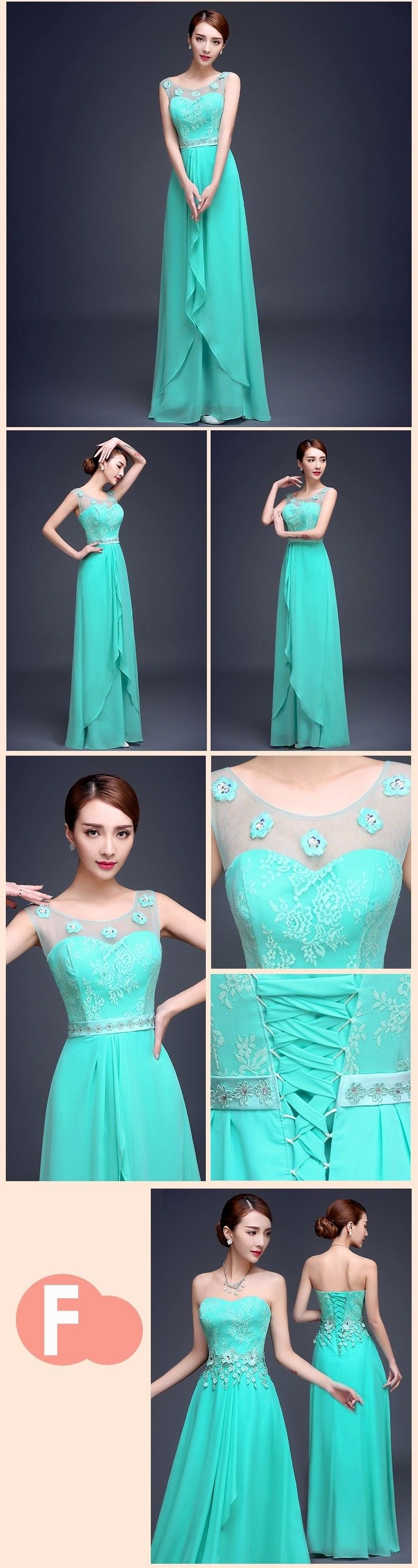 Aliexpress.com : Buy Vestido De Festa Turquoise Bridesmaid Dress ...