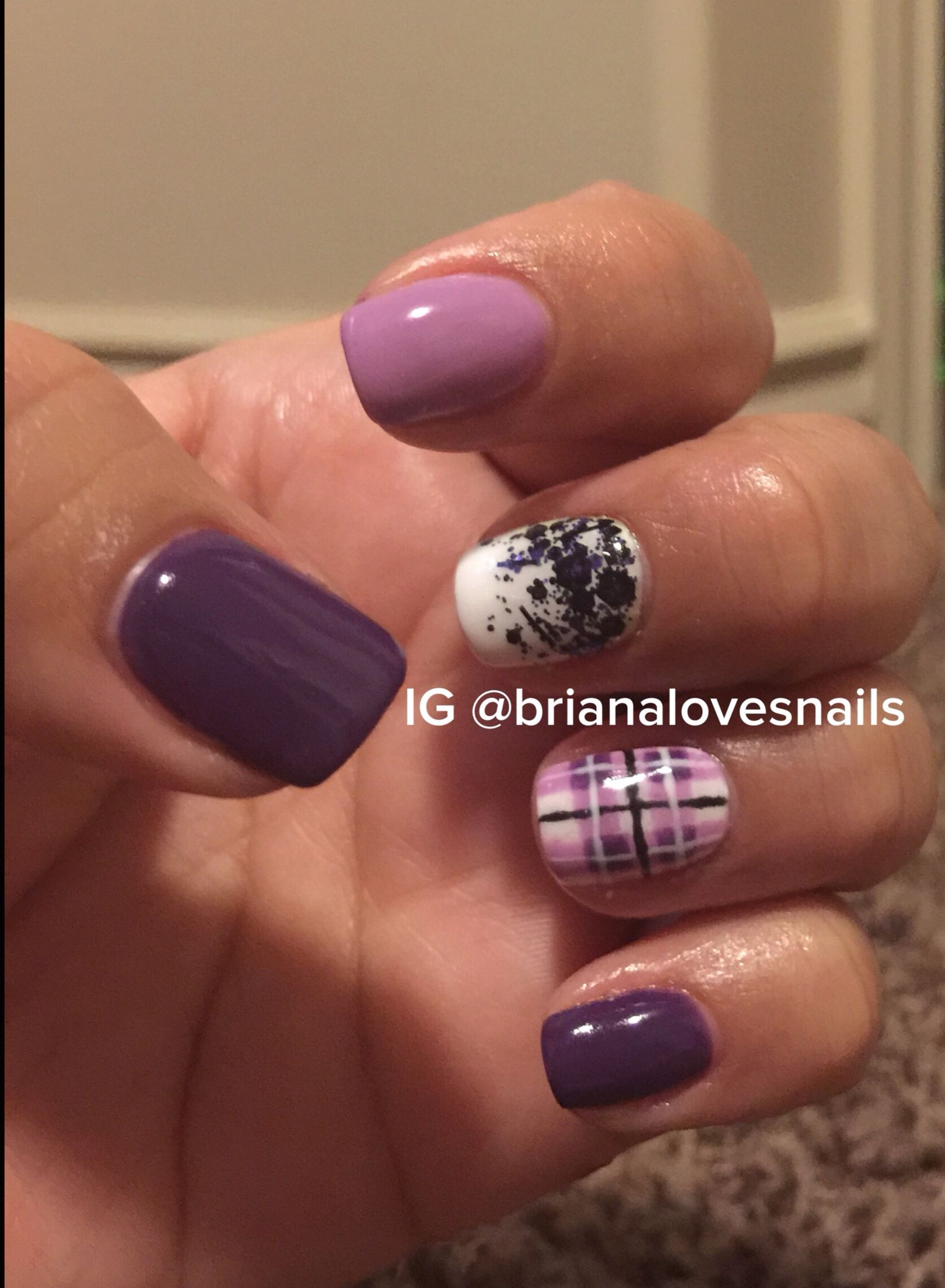 Gel polish, Plaid nail art, Ezflow Trugel, OPI Gel Color, IBD Just ...
