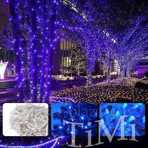 Led Lamps LED Lights 22M Waterproof 200 LED Blue Christmas Lights Party NR