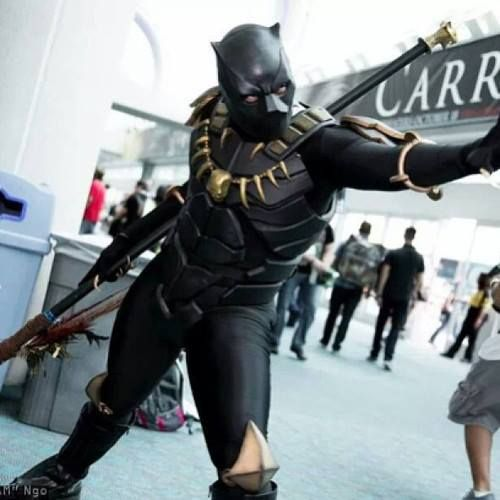 Awesome Black Panther cosplay! marvelcomics blackpanther