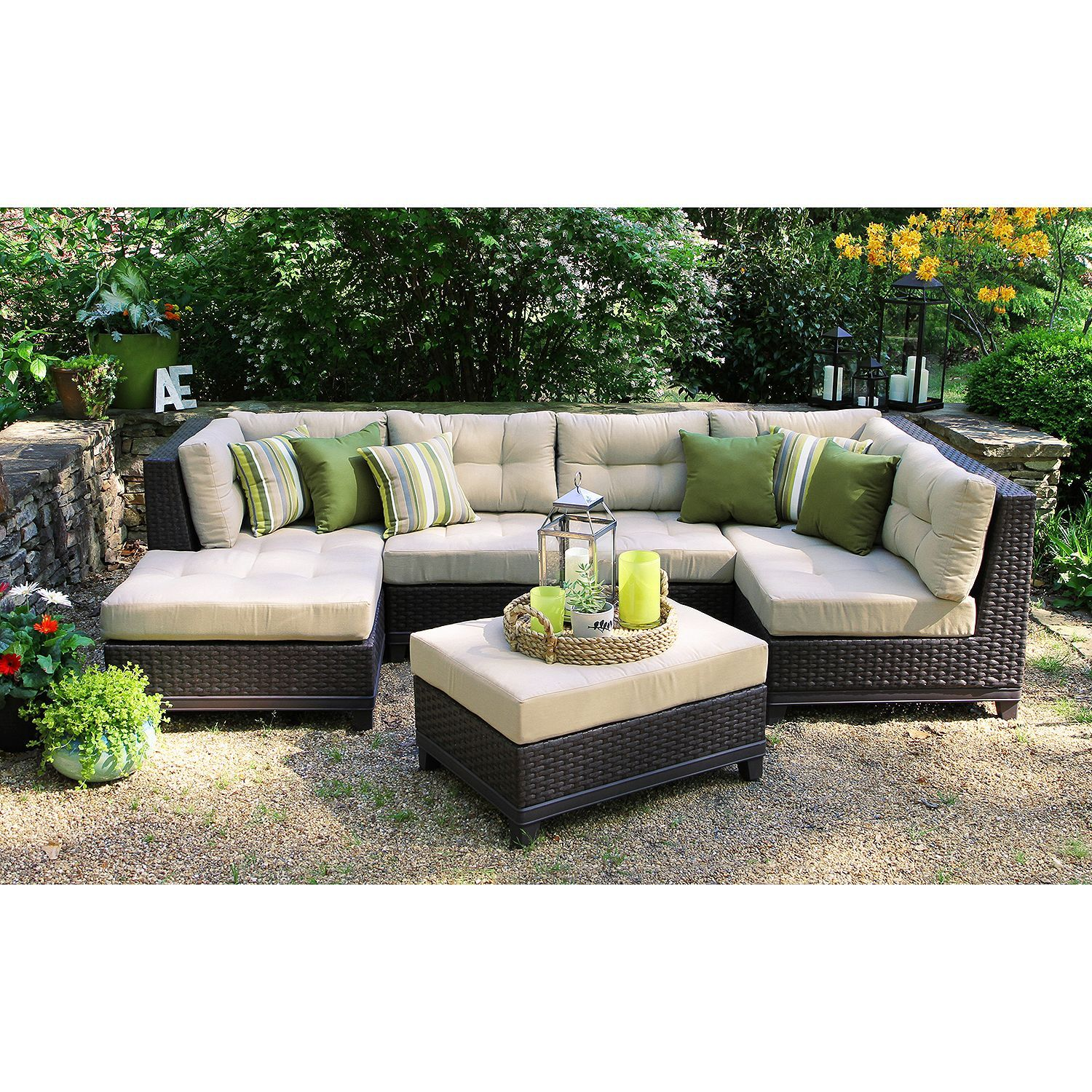 Hillborough 4 piece sectional multiple color choices sams club sectional patio furniture