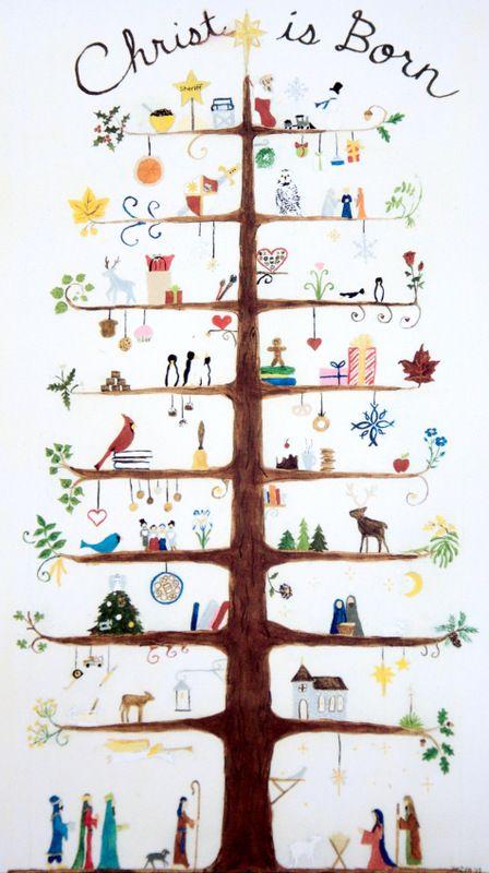 christmas art Scandinavian folk