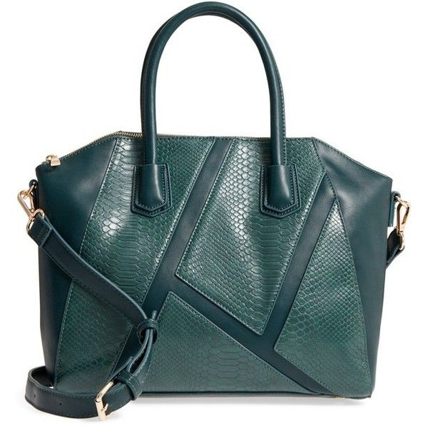 Women s Sole Society Chase Faux Leather Satchel ( 65) ❤ liked on Polyvore  featuring bags 37bce2a1774f4