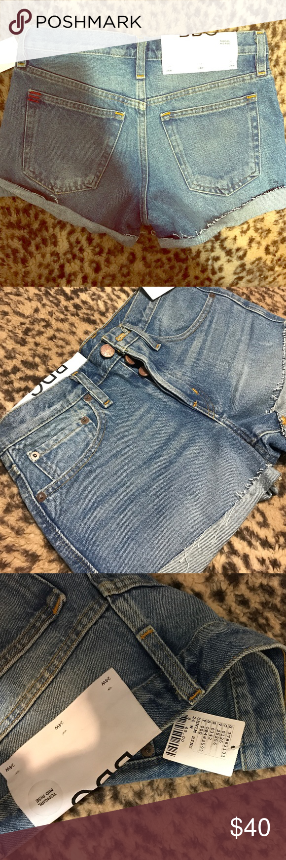 BDG Urban Outfitters shorts Brand new, with tags. Never worn. Denim rinse. Size 24 waist BDG Shorts Jean Shorts