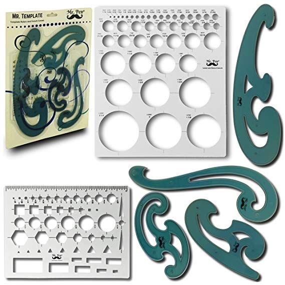 Home 12pcs Drawing Molds Ruler Plastic Children Painting Stencils Diy Paper Art Craft Card Label Scrapbook Bookmark Educational Toy 2019 New Fashion Style Online
