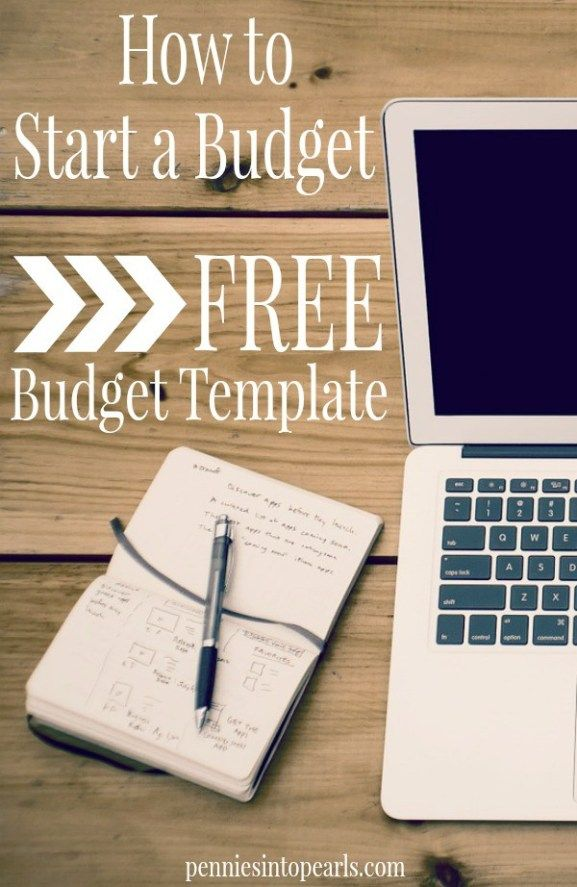 Starting a Budget and Setting Goals - Free Budget Template