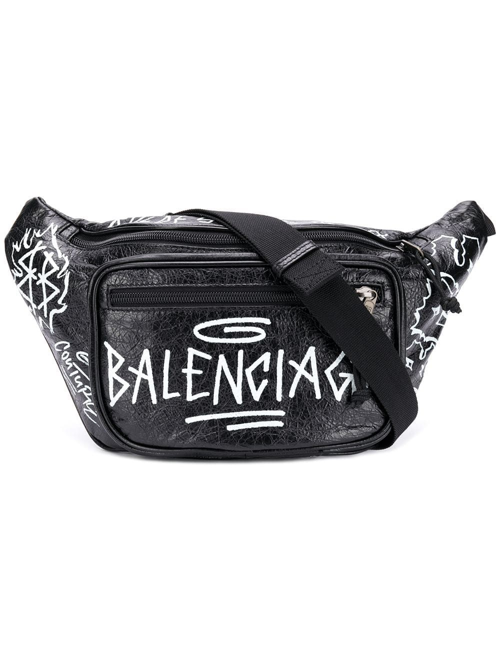 49cc82c44cf8 BALENCIAGA BALENCIAGA EXPLORER BELT BAG - BLACK.  balenciaga  bags  leather   belt bags