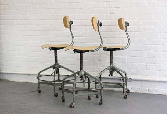 Mid Century Textile Mill Chairs By Toledo Circa 1950s | Mid century ...