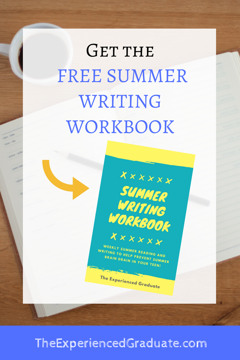 Get your FREE copy of the Summer Writing Workbook for your teen ...