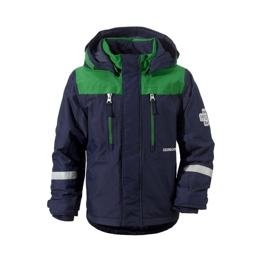 A warm kids jacket with extend a size so the jacket grows with the child.