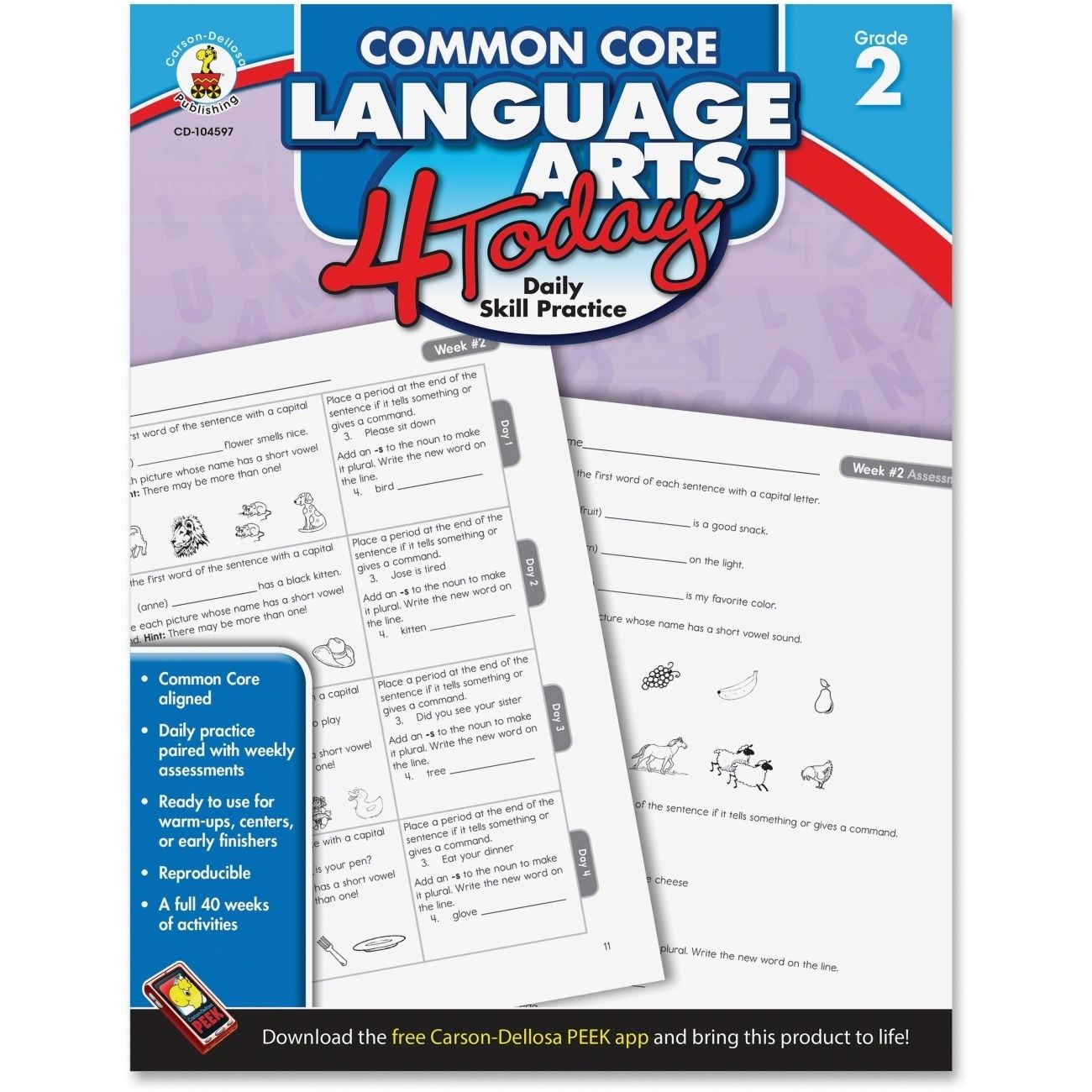 Carson Dellosa Common Core Language Arts 4 Today Workbook