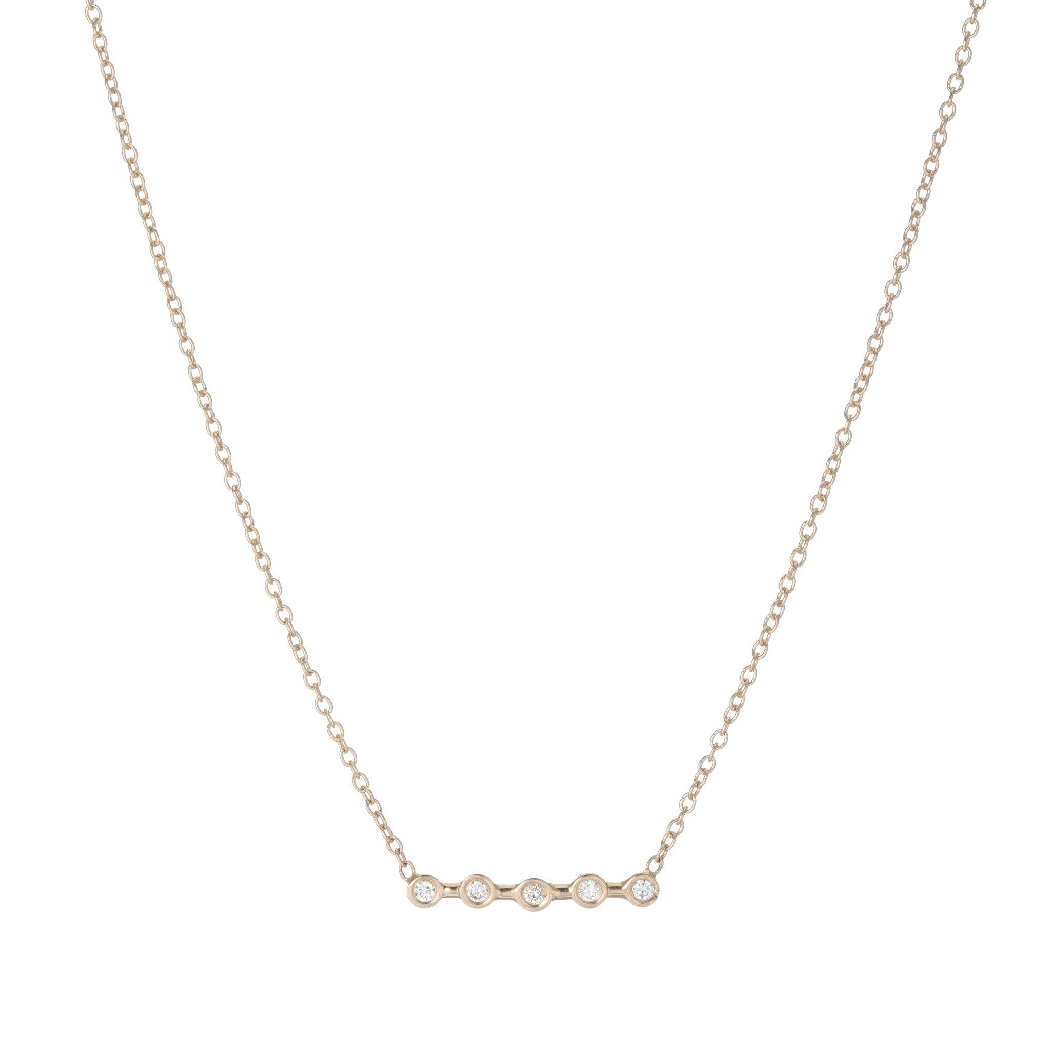 Ariel gordon jewelry diamond horizon necklace k yellow gold
