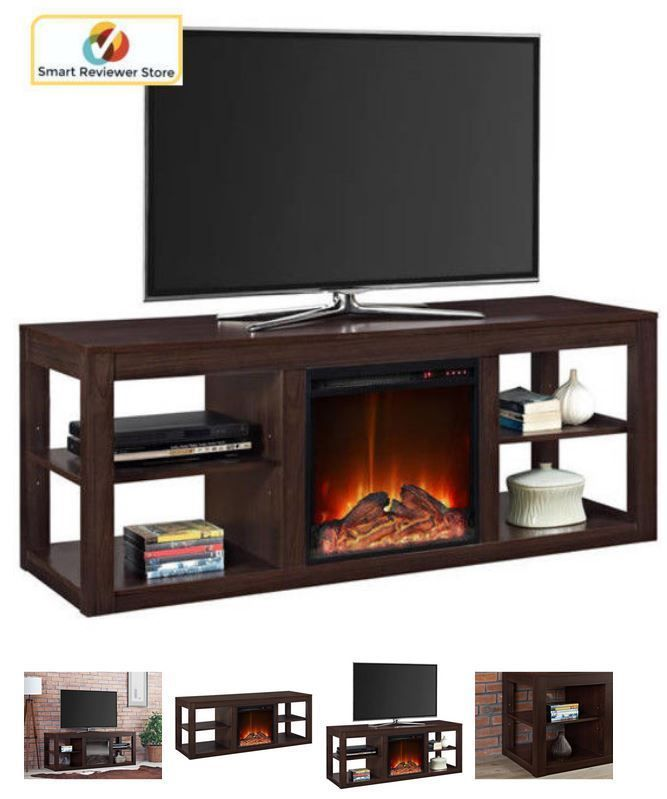 60 Inch Tv Stand With Fireplace Media Console Electric Entertainment