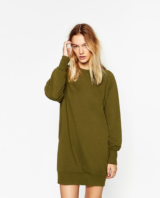 77113bc72a4276 Image 6 of WIDE CUT PLUSH DRESS from Zara | Winter 2016 | Dresses ...