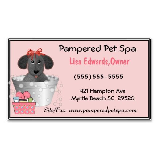 Dog Grooming Business Cards Zazzle Com Animal Pet Care