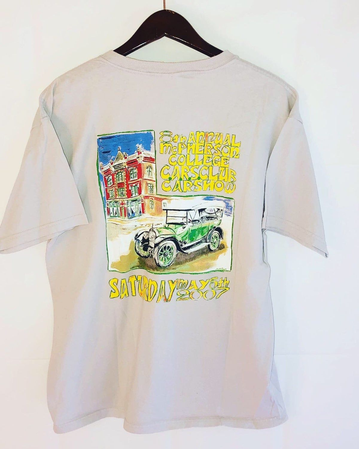 07 Classic Car Show Pocket Tee Large