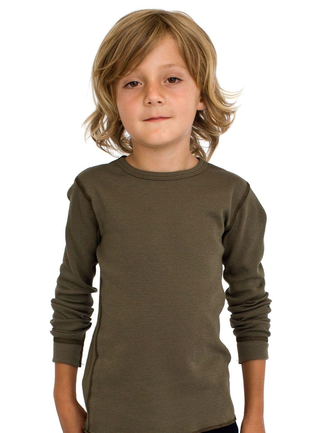 Kids baby thermal long sleeve t 2 6 years kids