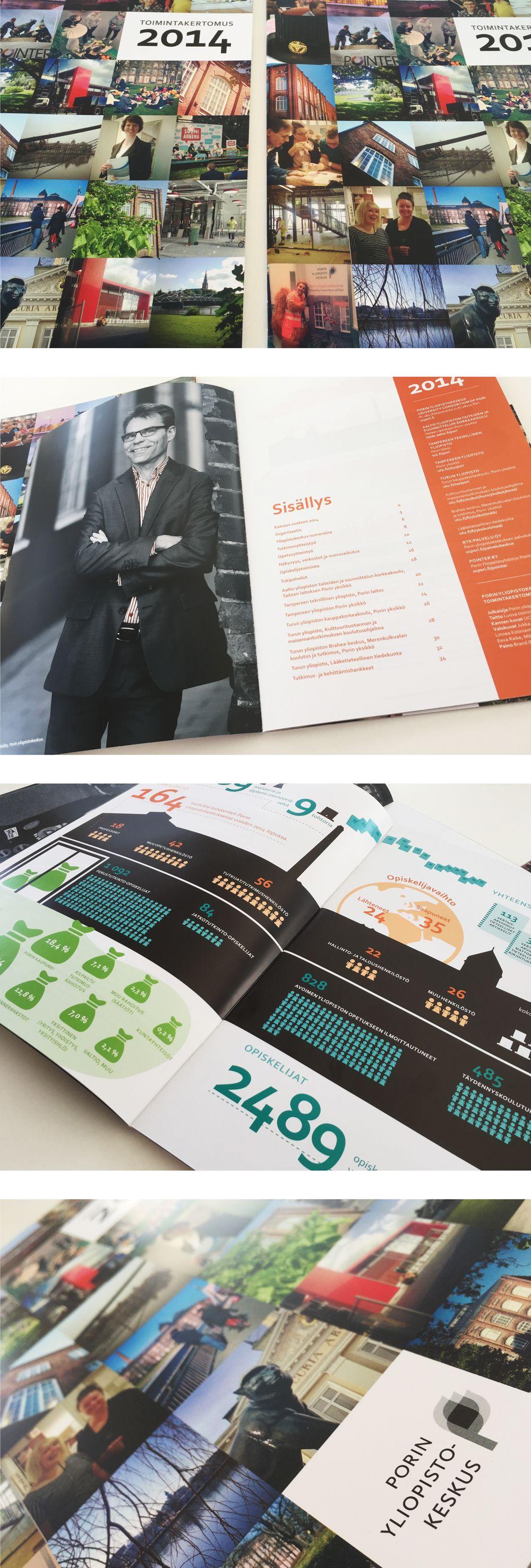 Graafinen suunnittelu: toimintakertomus 2014 / Porin yliopistokeskus
