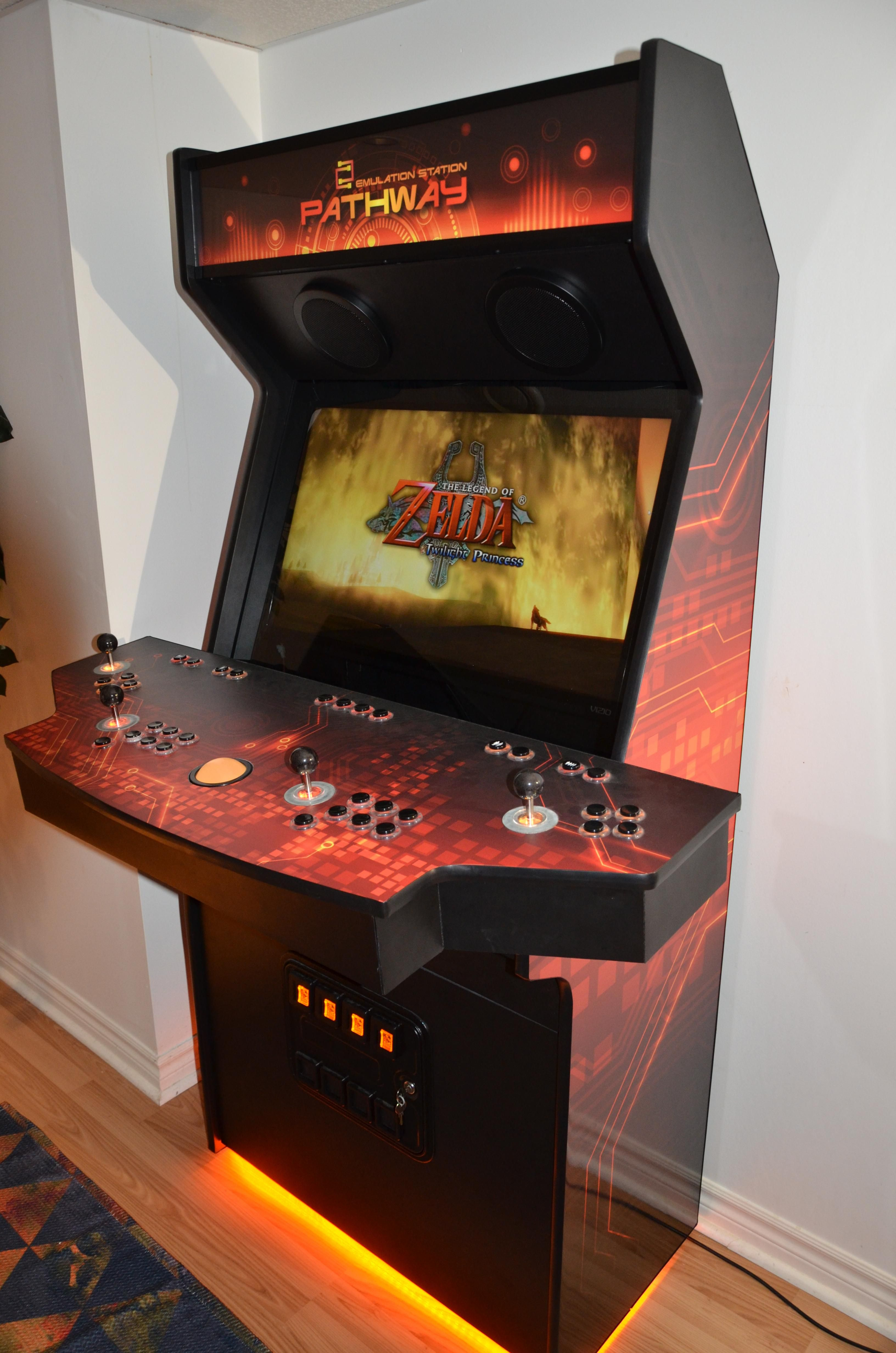 Pathway Cabinet Build Finished Arcade Room Video Game