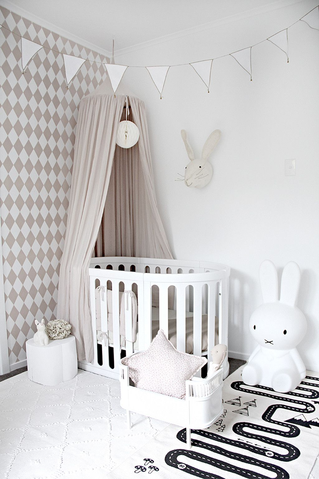 Maileg soft bunnies blonde and bone is to me kidsroom baby room decorbaby also bunny kids rooms rh uk pinterest