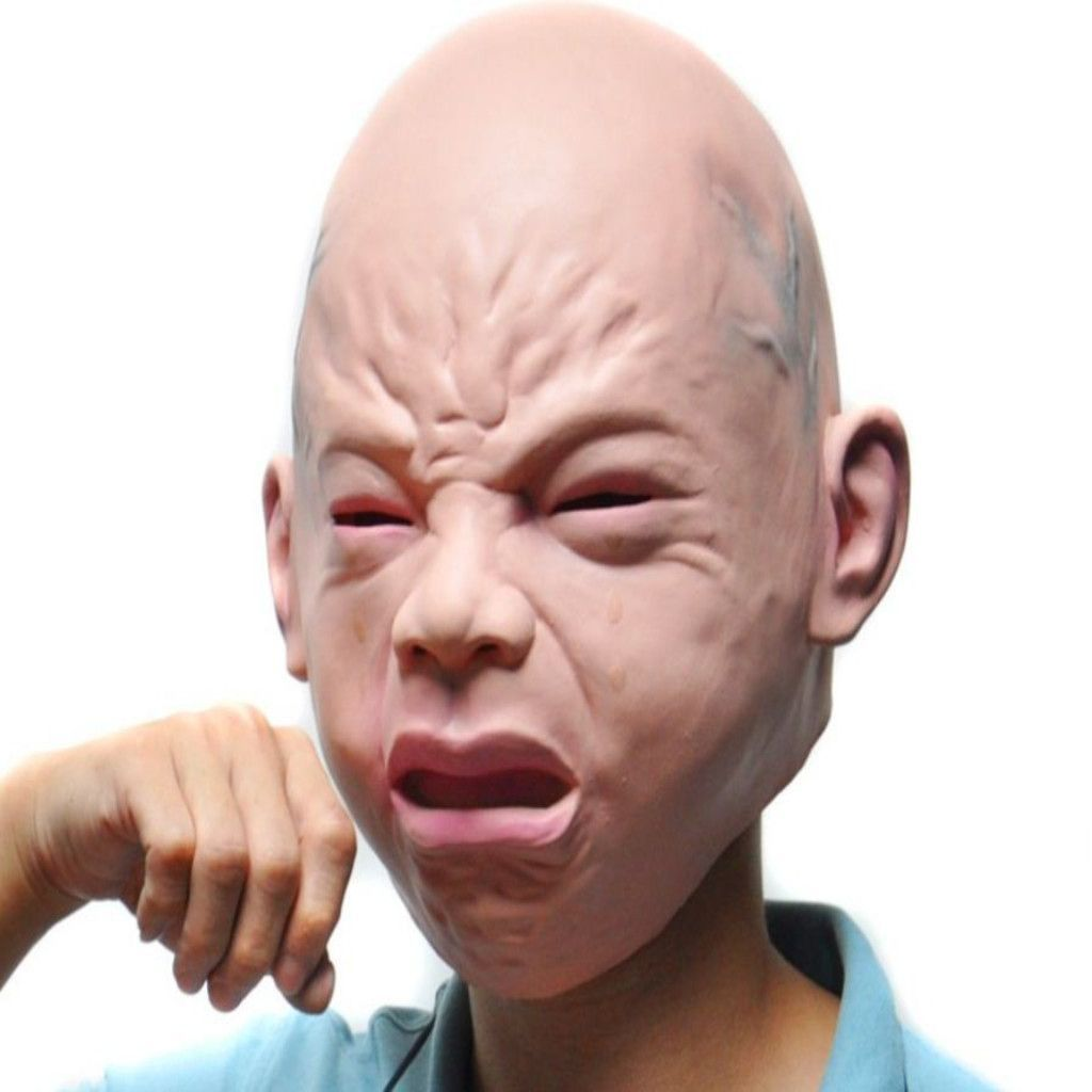 Halloween Baby Cry Full Head Latex Face Mask | Sexy Cosplay ...