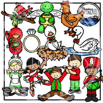 Twelve 12 Days Of Christmas Clipart Christmas Clipart Clip Art Twelve Days Of Christmas