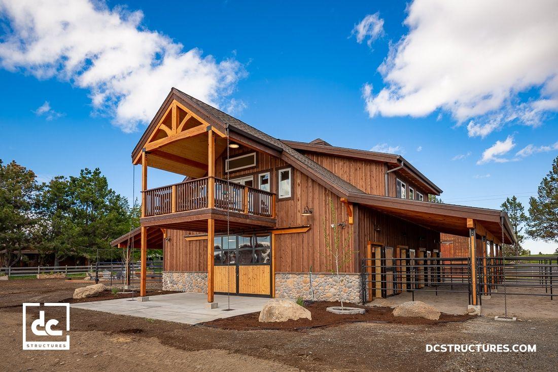 Bend Oregon Horse Barn Kit Dc Structures Barn Kits Horse Barn Barn Builders