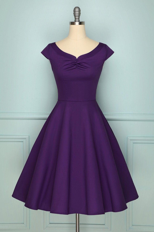 1950s Purple Dress In 2021 Purple Dress Vintage Dresses Dresses [ 1500 x 1000 Pixel ]