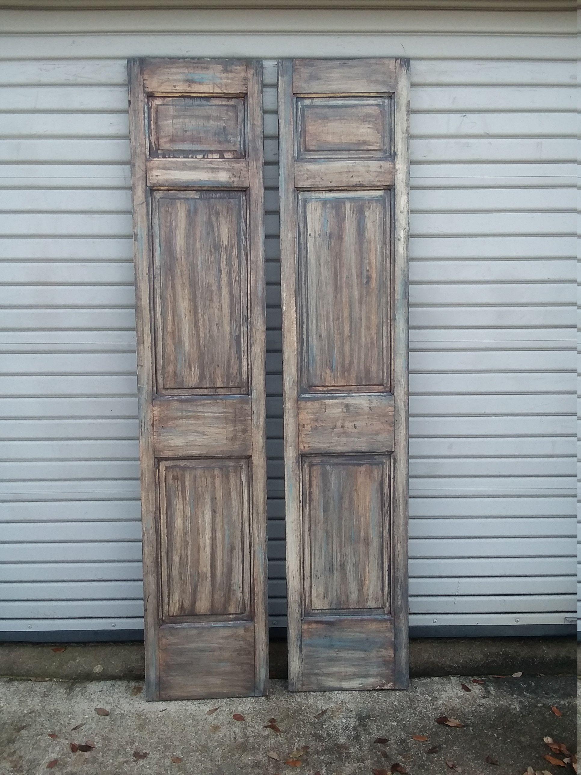 Pair Of Rustic Doors Double Doors French Doors Farmhouse In 2020 Rustic Doors Vintage Doors French Doors