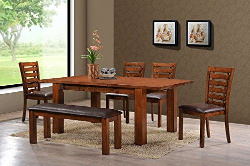 Holland House Pearington Rectangle Wood Oak Kitchen/Dining Table, Peacan  Oak Finish