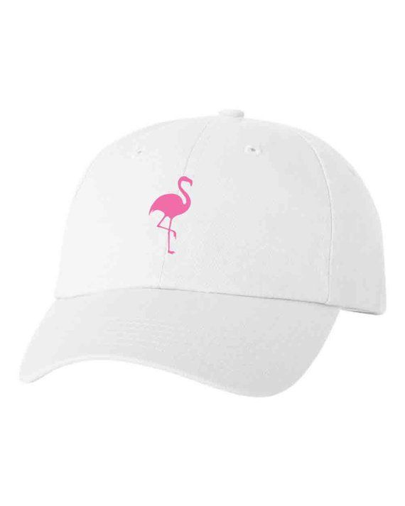 Cactus Flamingo Customized Embroidered Dad Hats Adjustable Baseball Cap  White (320) Bulk order for 77a78df2edca