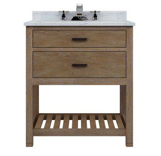 Bon Sagehill Designs TB3021D Weathered Oak Toby 30 Inch Vanity Cabinet With One  Drawer