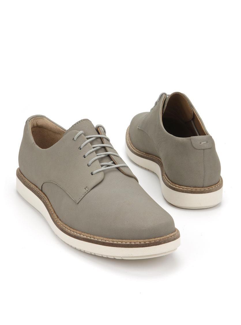 Clarks Chaussures Gris Avec Des Hommes De Fermeture Velcro 34j7kdSt9v