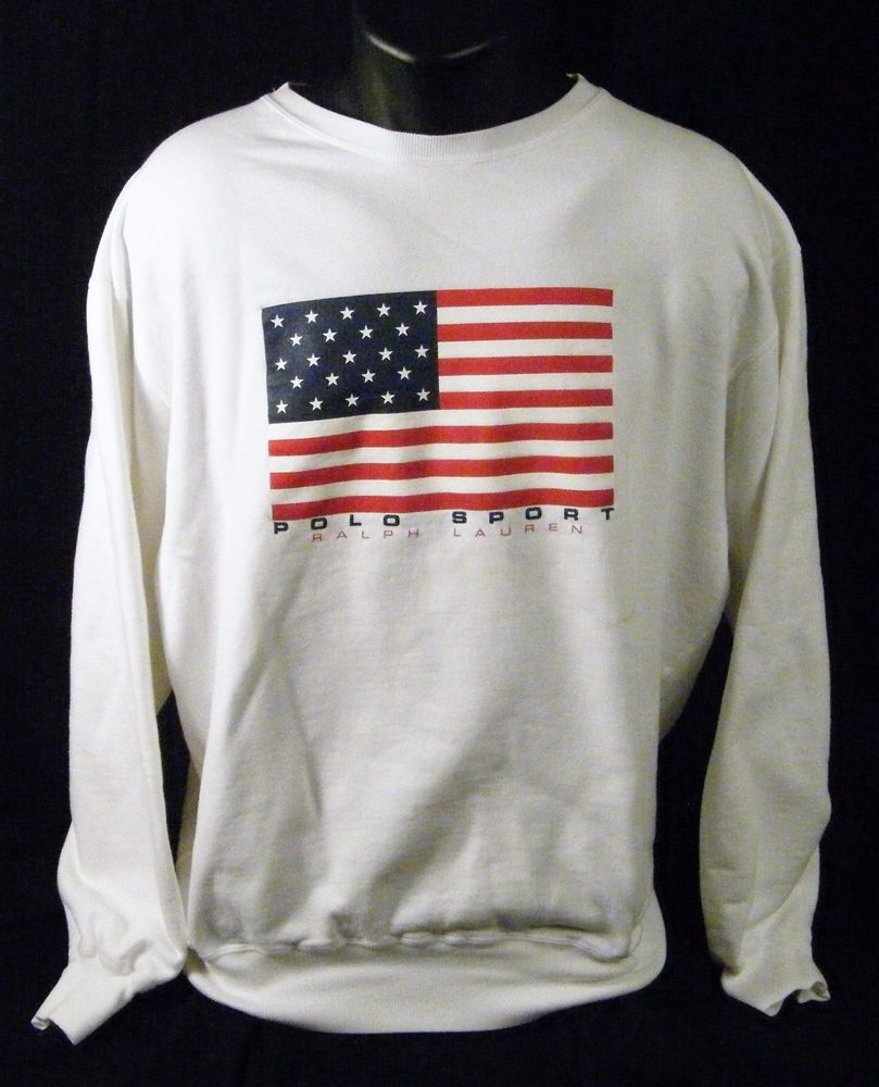 Polo Sport Ralph Lauren Large Flag White Crewneck Sweatshirt Please Read  Large  PoloSport  Sweatshirt 9da944ffb