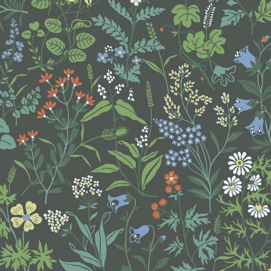 Flora Wildflower Wallpaper Pattern Wallpaper Flora Prints