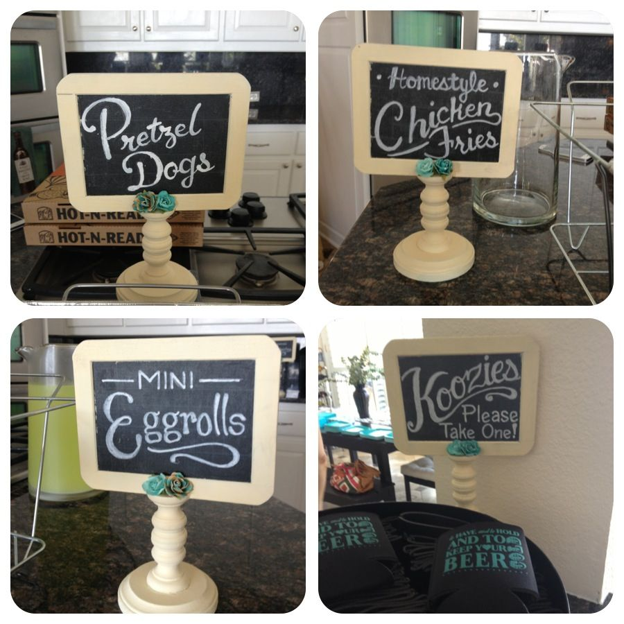 Mini Chalkboard signs for a wedding!