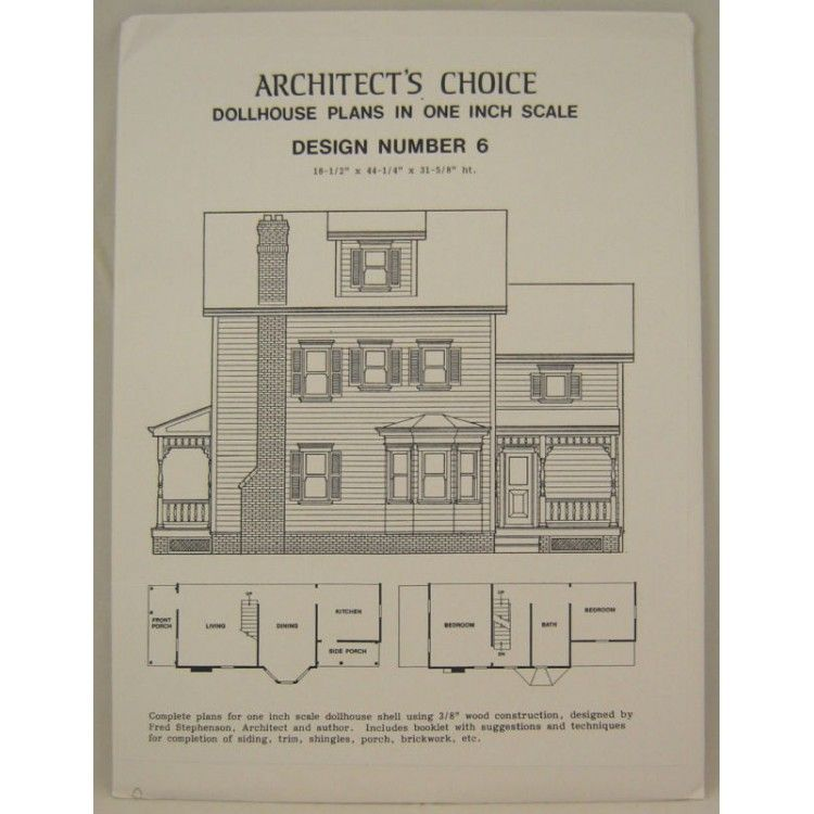 Dollhouse Plans Design 6 Architect S Choice 1 12 Scale Plan Design Doll House How To Plan