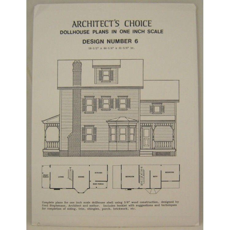 DOLLHOUSE PLANS Design #5 Architect/'s Choice 1:12 Scale Cape Cod Farm House