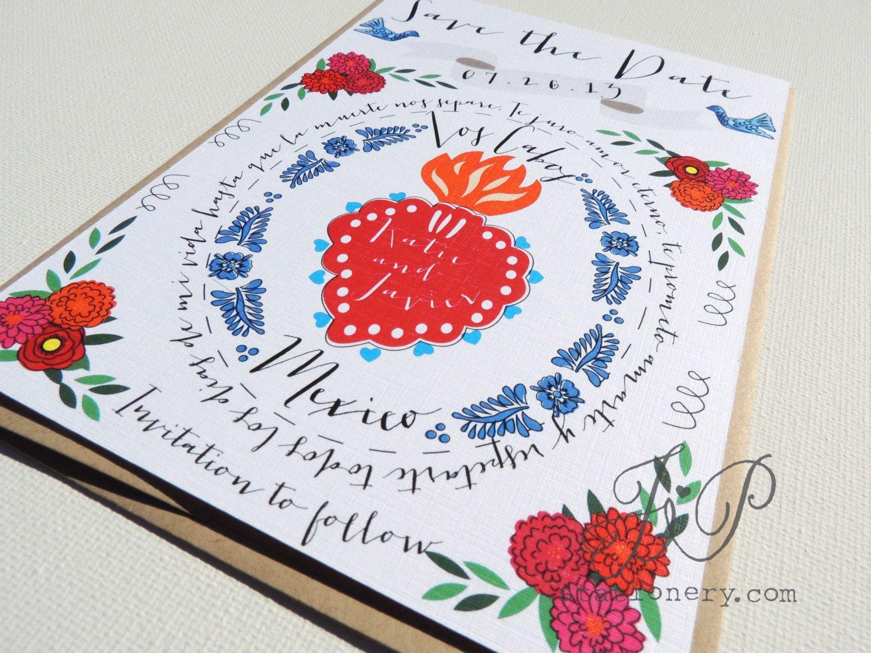 Destination Wedding Save The Date - Mexico Lindo (Mi Corazon). $5.00 ...